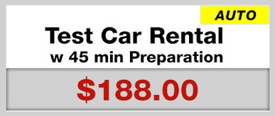 Test Car Rental w 45 min Test Preparation